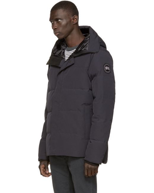 Canada Goose toronto sale shop - Canada goose Navy Black Label Macmillan Parka in Blue for Men ...