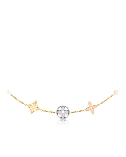 Louis Vuitton | White Idylle Blossom Necklace, 3 Golds And Diamonds | Lyst