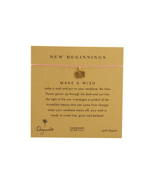 Dogeared | Pink Make A Wish New Beginning Necklace | Lyst
