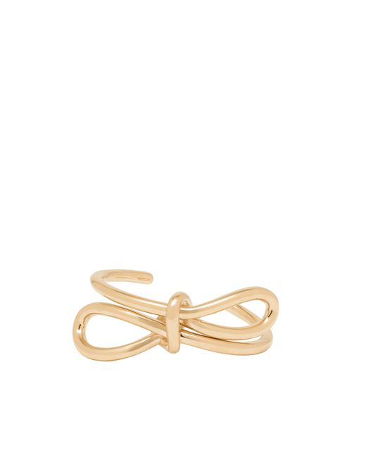Balenciaga | Metallic Pale Gold Boucle Bow Bracelet | Lyst