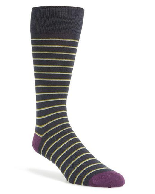 Paul Smith | Gray 'nicostripe' Socks for Men | Lyst