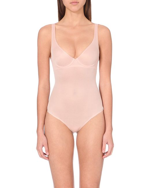 Wolford | Pink Sheer Control Bodysuit | Lyst