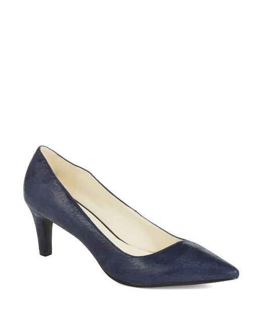 Anne Klein | Blue Barb Leather Pumps | Lyst