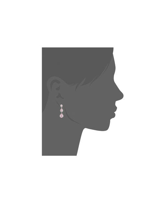 Betsey Johnson | Pink Cz Teardrop Earrings | Lyst