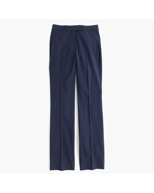 J.Crew | Blue Tall Preston Pant In Italian Stretch Wool | Lyst