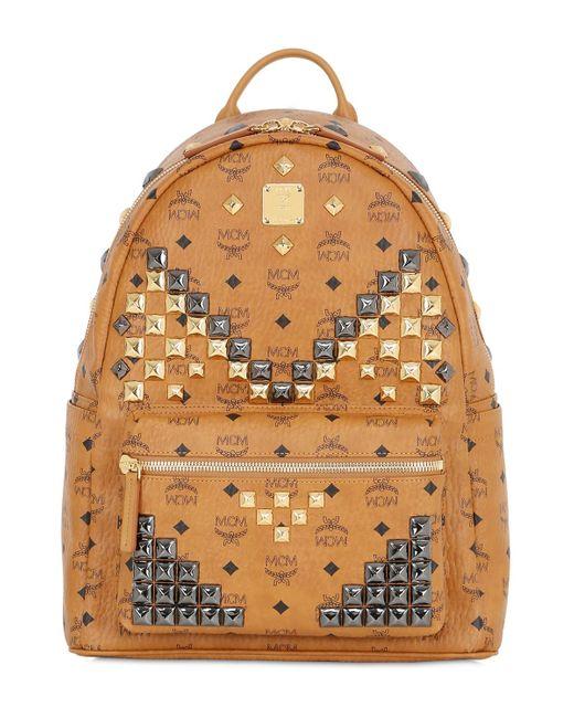 mcm medium stark leather backpack in brown for men save 18 lyst. Black Bedroom Furniture Sets. Home Design Ideas