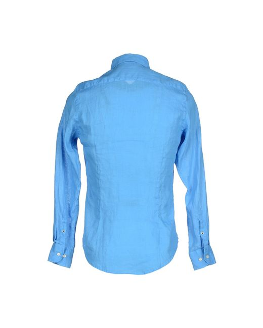 AT.P.CO   Blue Shirt for Men   Lyst
