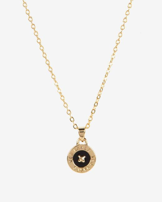 Ted Baker | Metallic Enamel Button Pendant Necklace | Lyst