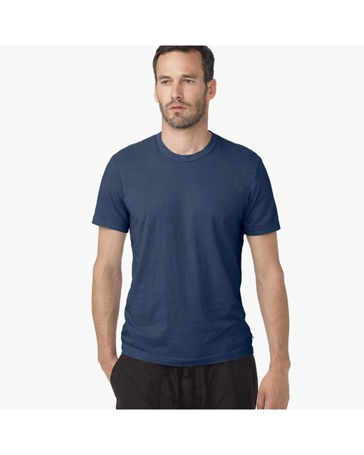 James Perse | Blue Short Sleeve Crew Neck for Men | Lyst