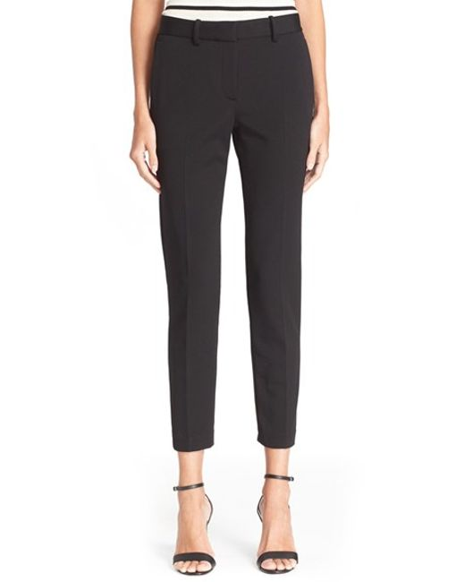 Unique Shop Women  Stretchcotton Cropped Pants Let Them Pop Against Neutral Separates For The Chicest Take On The New Seasons Favorite Color Crush I Like Bright Colored Chinos But More Importantly I Like The Style Of These Pants Cropped