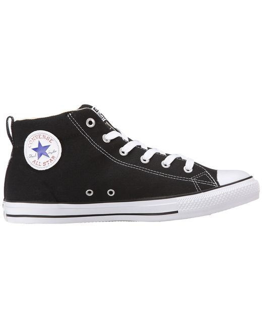 Converse | Black Chuck Taylor® All Star® Street Core Canvas Mid | Lyst