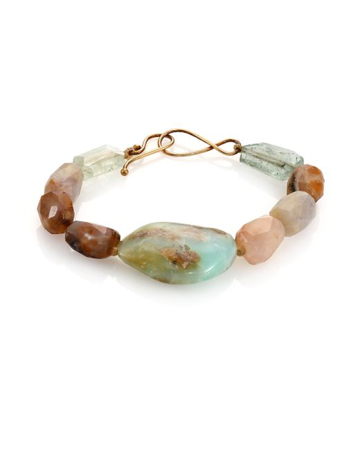 Lena Skadegard | Brown Raw Chalcedony, Aquamarine & Opal Beaded Bracelet | Lyst