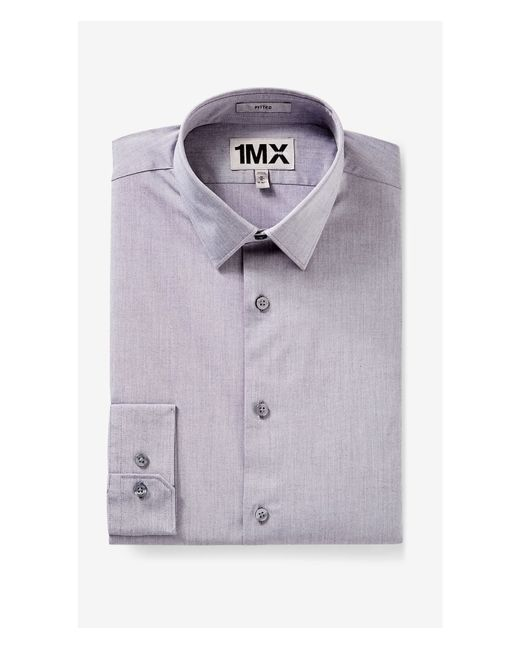 Express | Gray Fitted Iridescent 1mx Shirt for Men | Lyst