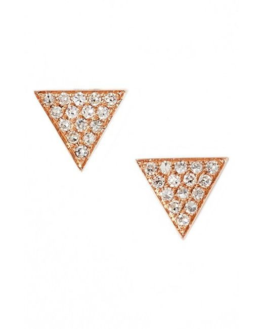 Dana Rebecca | Pink 'emily Sarah' Diamond Pave Triangle Stud Earrings (nordstrom Exclusive) | Lyst