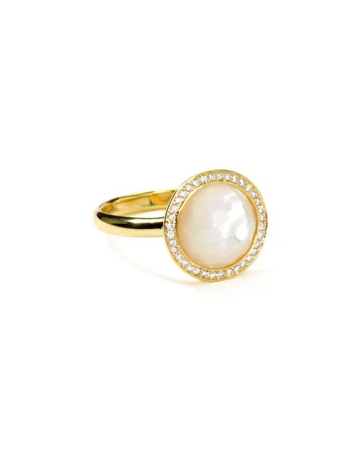 Ippolita | Metallic 18k Gold Rock Candy Mini Lollipop Diamond Mother-of-pearl Ring | Lyst