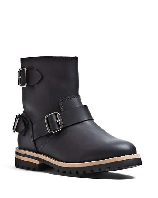 blondo willow shearling lined ankle boots in black lyst