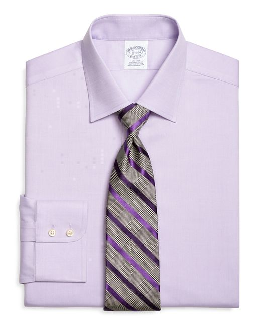 Brooks Brothers   Purple Non-iron Regent Fit Royal Oxford Dress Shirt for Men   Lyst