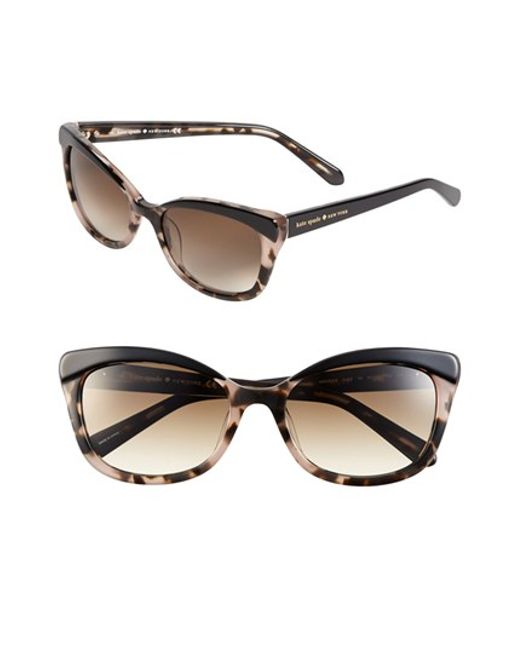 kate spade new york | Brown 'amaras' 55mm Sunglasses | Lyst