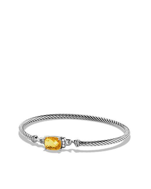 David Yurman | Metallic Petite Wheaton Bracelet With Citrine And Diamonds | Lyst