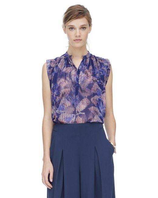 Rebecca Taylor   Purple Sonic Garden Sleeveless Silk Top   Lyst