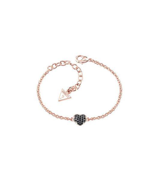Guess | Pink Heartshelter Bracelet | Lyst
