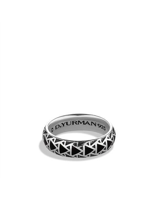 David Yurman | Black Frontier Band Ring with Nevada Silk Stone for Men | Lyst