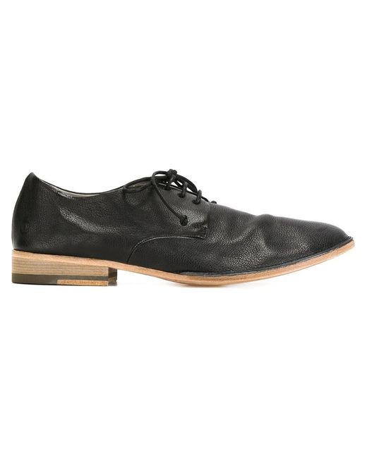 mars 232 ll stacked heel derby shoes in black for lyst