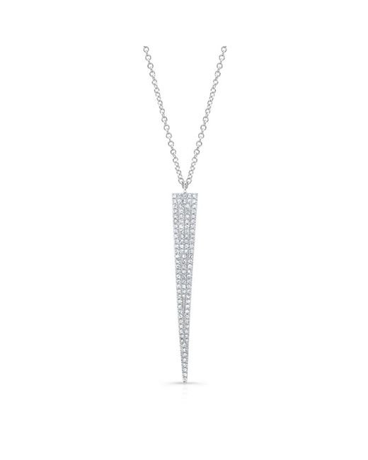 Anne Sisteron - 14kt White Gold Diamond Long Triangle Necklace - Lyst