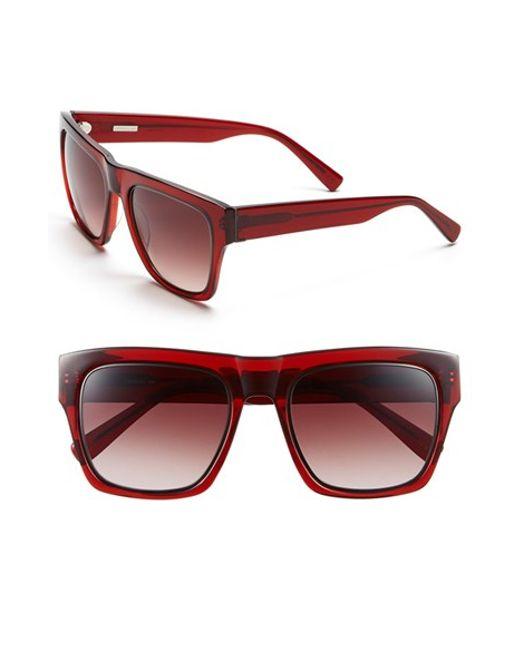 Derek Lam | Red 'mercer' 54mm Sunglasses | Lyst