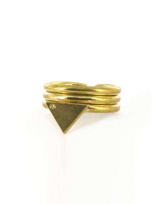 Forever 21 | Metallic Made Triangle Ring | Lyst
