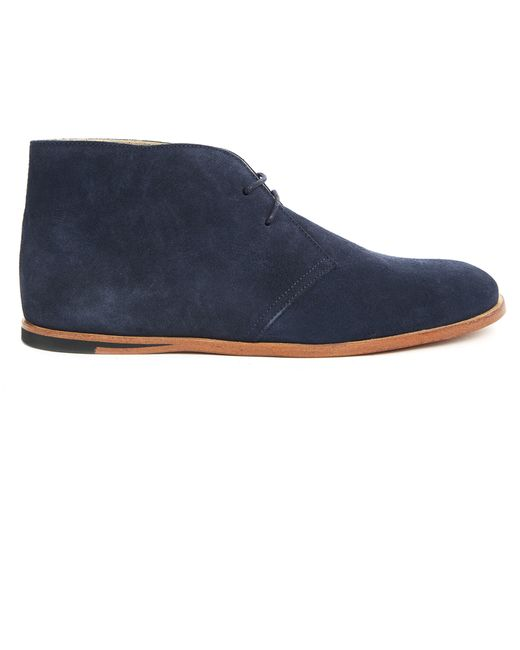 opening ceremony navy blue suede desert boots in blue for