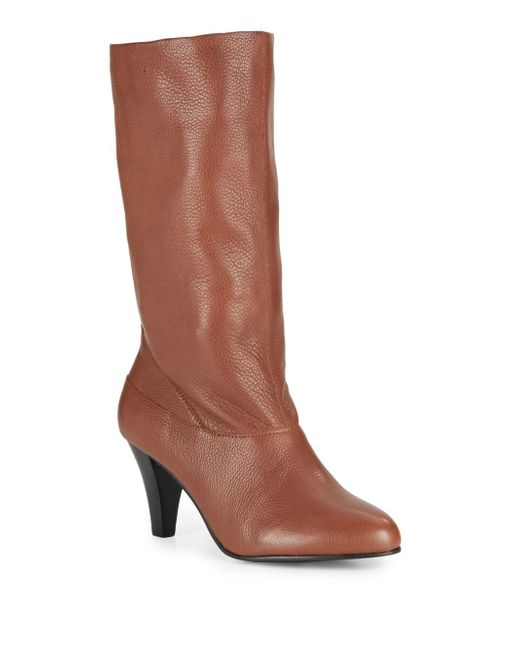 Saks Fifth Avenue | Brown Paige Leather Boots | Lyst