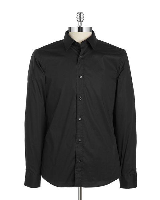 Michael Kors | Black Men's Slim Long Sleeve Shirt for Men | Lyst