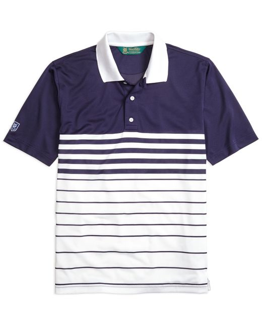 Brooks Brothers | Blue St. Andrews Links Fade Stripe Golf Polo Shirt for Men | Lyst