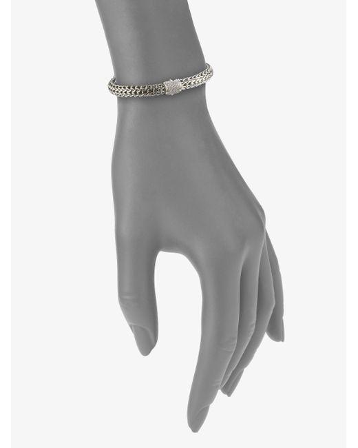 John Hardy   Metallic Classic Chain Diamond & Sterling Silver Small Bracelet   Lyst