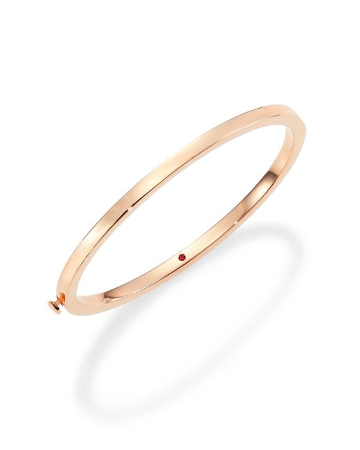 Roberto Coin | Metallic 18k Rose Gold Oval Bangle Bracelet | Lyst
