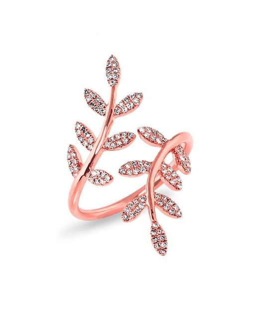 Anne Sisteron | Pink 14kt Rose Gold Diamond Ivy Ring | Lyst