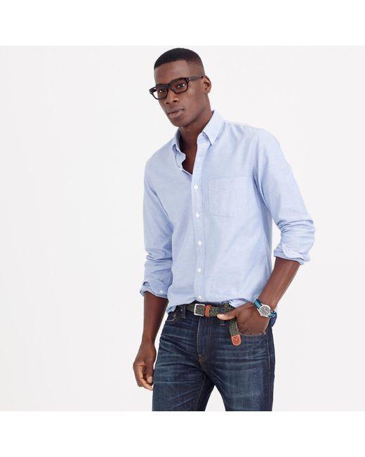 J.Crew   Blue Slim Vintage Oxford Shirt for Men   Lyst
