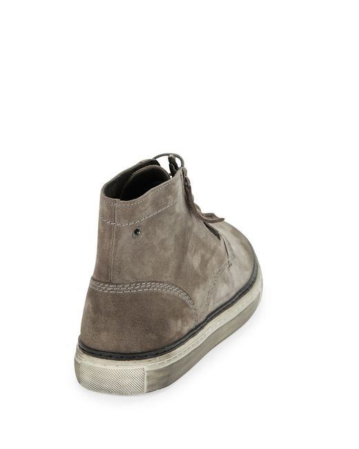 DIESEL | Gray Gun-tel D-blaast Boots for Men | Lyst