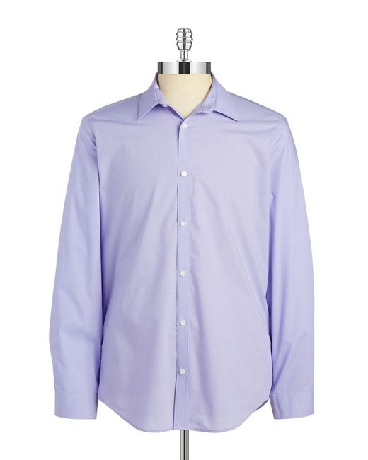 Calvin Klein | Purple Mini-checked Sportshirt for Men | Lyst