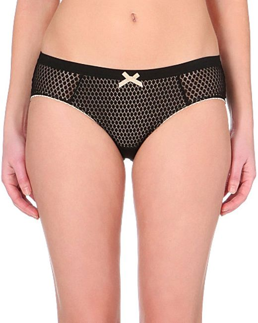 Heidi Klum Intimates | Black Leise Lace Culotte Briefs | Lyst