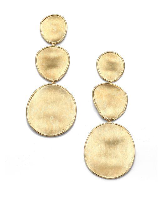 Marco Bicego | Metallic Lunaria 18k Yellow Gold Drop Earrings | Lyst