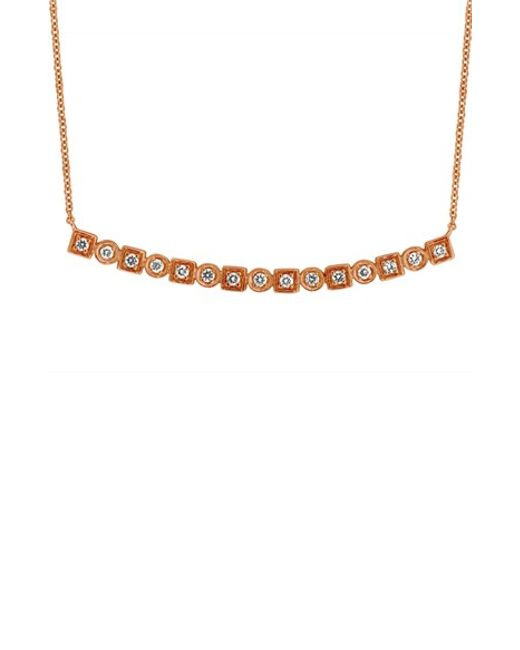 Bony Levy | Metallic 'maya' Diamond Bar Pendant Necklace (nordstrom Exclusive) | Lyst