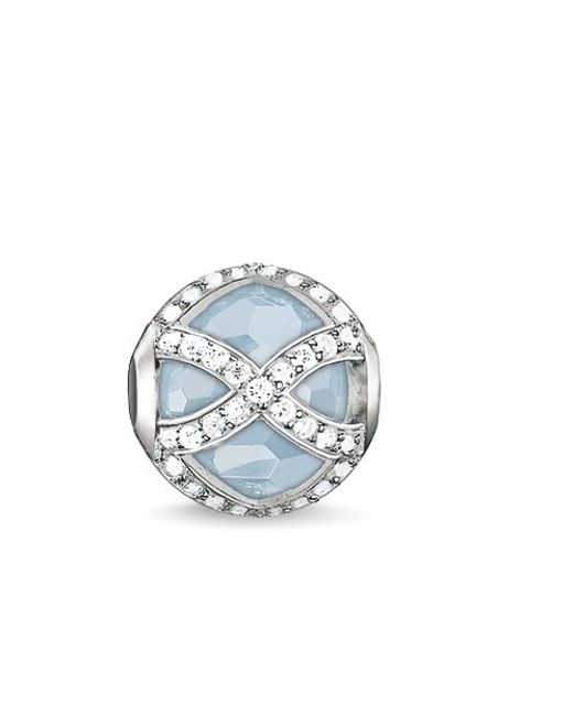 Thomas Sabo | Blue Karma Beads Maharani Milky Aqua Bead | Lyst
