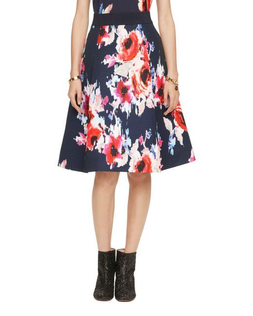 Kate Spade | Multicolor Hazy Floral Midi Skirt | Lyst