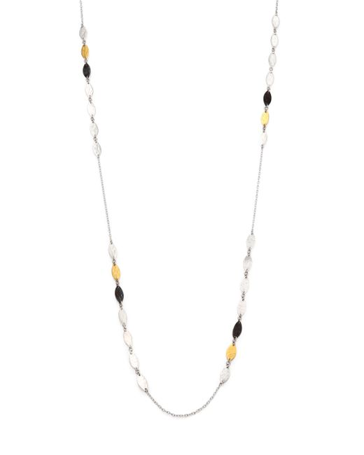 Gurhan | Metallic Willow 24k Yellow Gold & Sterling Silver Leaf Station Necklace | Lyst