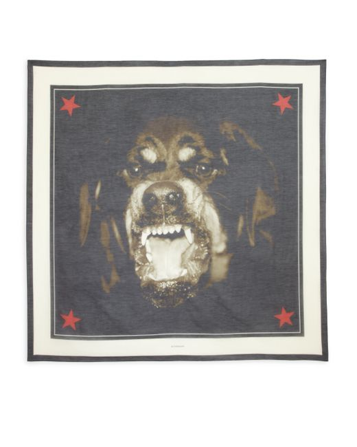 Givenchy | Natural Rottweiler Print Scarf | Lyst