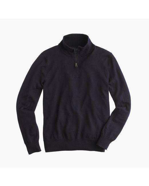 J.Crew   Blue Merino Wool Half-zip Sweater for Men   Lyst