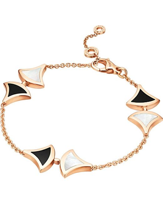 BVLGARI | Metallic Divas' Dream 18kt Pink-gold And Onyx Bracelet | Lyst