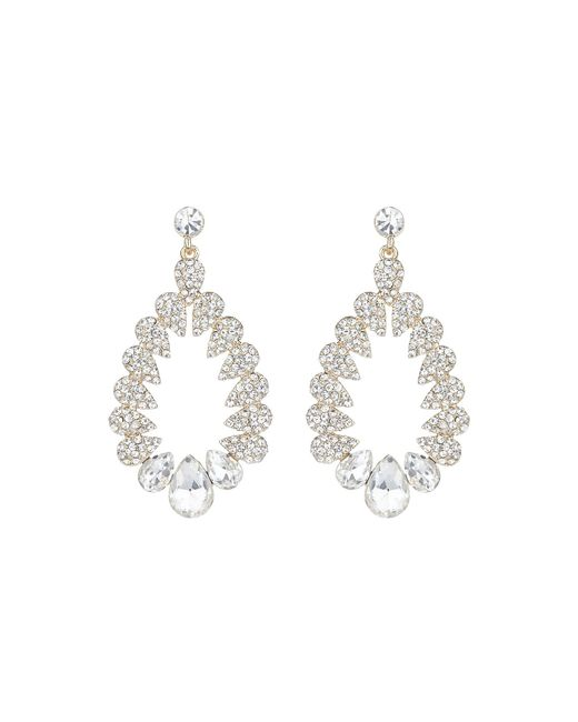 Mikey | White Multi Oval Marquise Filligree Earring | Lyst